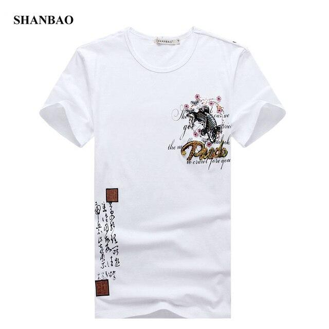 2016 лето мужская футболка новинка китайский стиль вышивка майка мужчин о шея короткая длинным рукавом slim-подходят свободного покроя мужская футболка 5XL