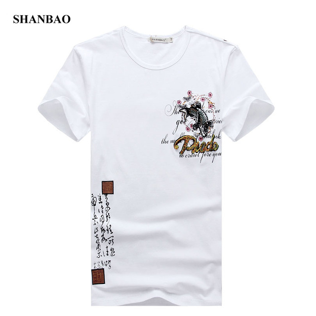 2016 Summer Mens T Shirt New Fashion Chinese Style Embroidery T Shirt Men O Neck Short Sleeve Slim Fit Casual Mens Tee shirt 5XL