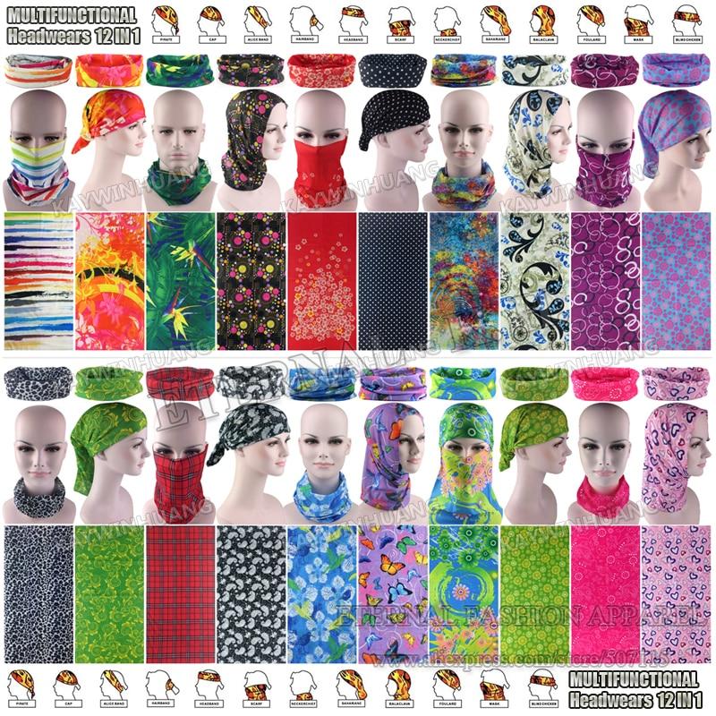 Latest Fashion Various Women Outdoor Multifunctional Headband Balaclava Seamless Tubular Headwear Tube font b Scarf b