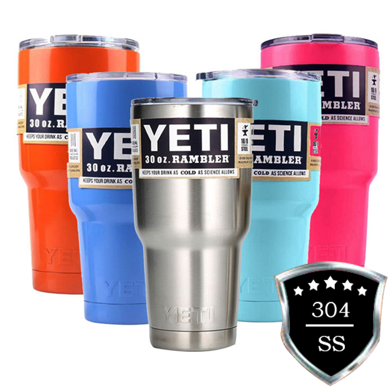 <font><b>YETI</b></font> Tumbler <font><b>Cups</b></font> <font><b>30</b></font> <font><b>oz</b></font>/<font><b>20</b></font> <font><b>oz</b></font> <font><b>YETI</b></font> Rambler Cooler Vacuum Insulated <font><b>Cups</b></font> Vehicle Coffee Beer Mug <font><b>304</b></font> SS Thermos Bottle Thermocup