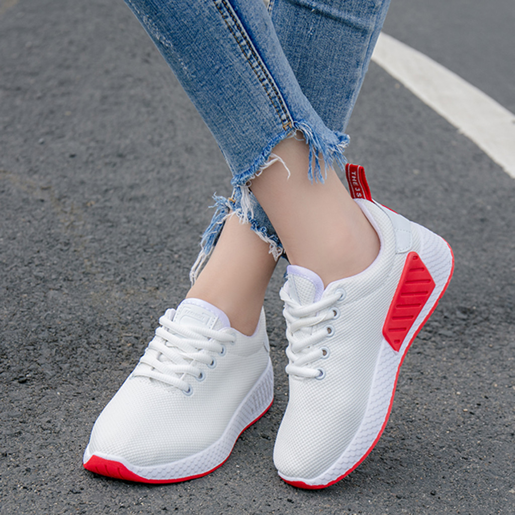 Mesh Lace Up Sneakers Women Casual Shoes Women White Sneakers Running Breathable Trainers Women Sneakers 2019(China)