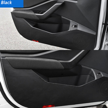 Car Door Leather Protector Pad Co-pilot Anti-kick Anti-dirty Mat Cover Sticker For Volkswagen VW Jetta MK7 2019