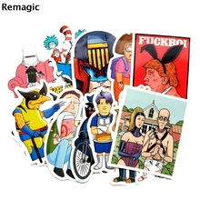 13pcs funny calssic cartoon kids toy paster decal scrapbooking diy sticker decoration laptop waterproof accessory