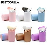BESTGORILLA 10pc Bottled Makeup Brush High Quality Kit Shape Makeup Set Cosmetics Makeup Metal Brushes Beauty