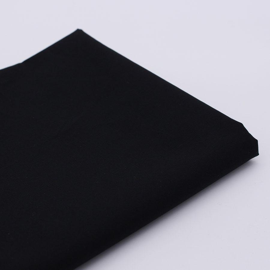 Ren svart bomullstyg för sömnad DIY Handgjorda Hometextile Tygvävnader Patchwork Tyg Tissue Hem Textil Telas Tecido