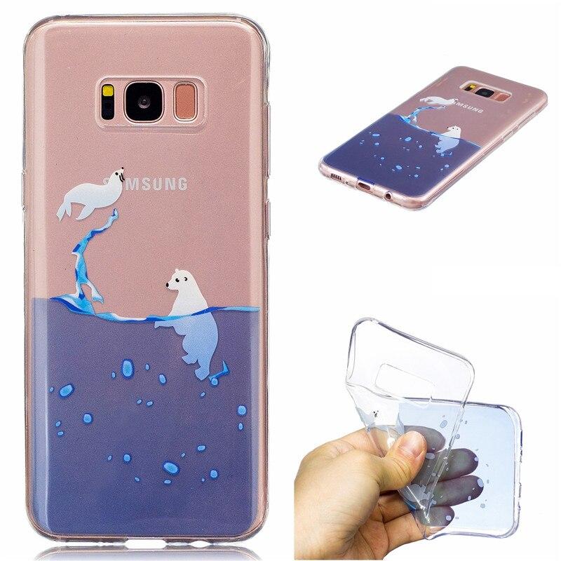 ᗛCoque para Samsung Galaxy S8 más caso transparente silicona suave ...