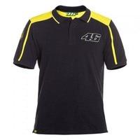 NEW For Vr46 Motocross Polo Black T Shirts MOTO GP Motorbike Racing T Shirt Mountain Bike