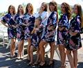 110 cm Casamento Vestido Camisola Sleepwear Roupões de Banho das Mulheres robe De Seda Sexy Camisola de Cetim quimono roupões de Banho Real Verão saias