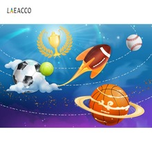 Photo Backdrop Spaceship Baby Cartoon Sport Football Basketball Baseball Birthday Party Background Photocall Studio