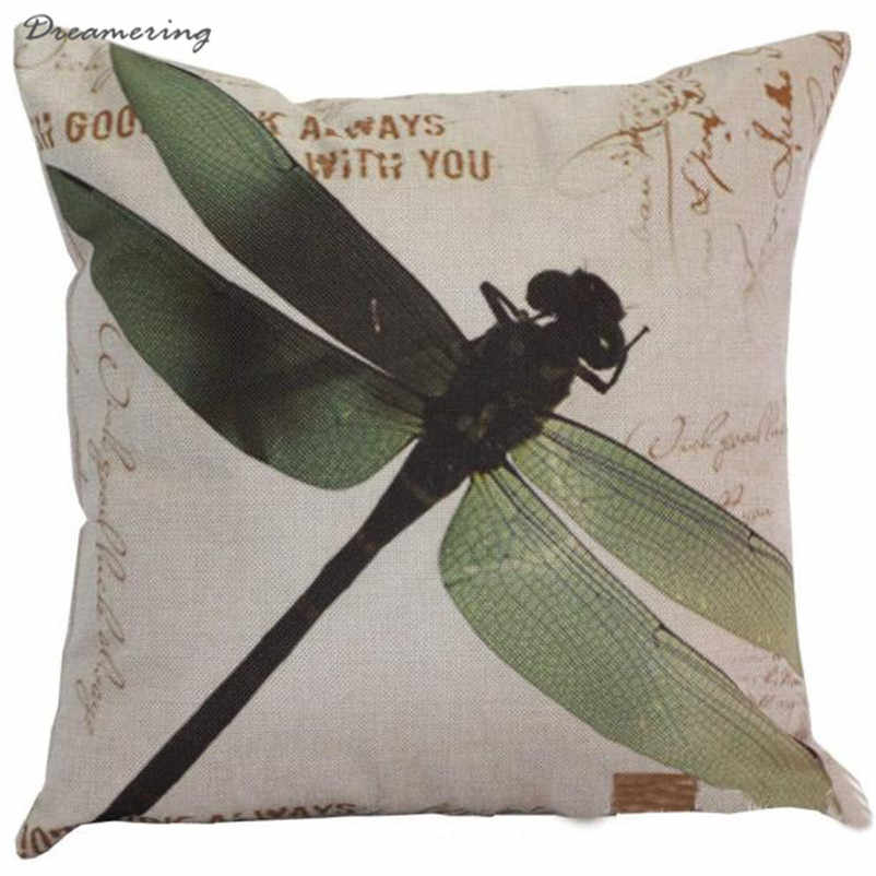 Hot Sale Fashion Dragonfly Sofa Bed Home Decor Pillow Case Cover Home Decor High Quality Wholesale Free Shipping,Dec 8