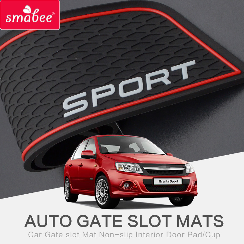 smabee Gate slot pad Interior Door Pad/Cup For LADA granta GRANTA SPORT Non-slip mats red/white pvc 16pcs