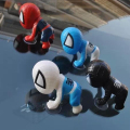 Marvel Spiderman Set of 4pcs Mini Action Figures Dolls with Sucker for Car Decoration Gift
