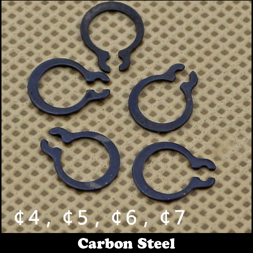 M4 M5 M6 M7 Carbon Steel Mn65 Washer DIN471 C-Type Calabsah Type Snap Retaining Ring For 4mm 5mm 6mm 7mm External Shaft Circlip цены
