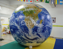 AO33 0.18mm Thickness 2M PVC Advertising inflatable globe ball inflatable/ globe ball inflatable for sale