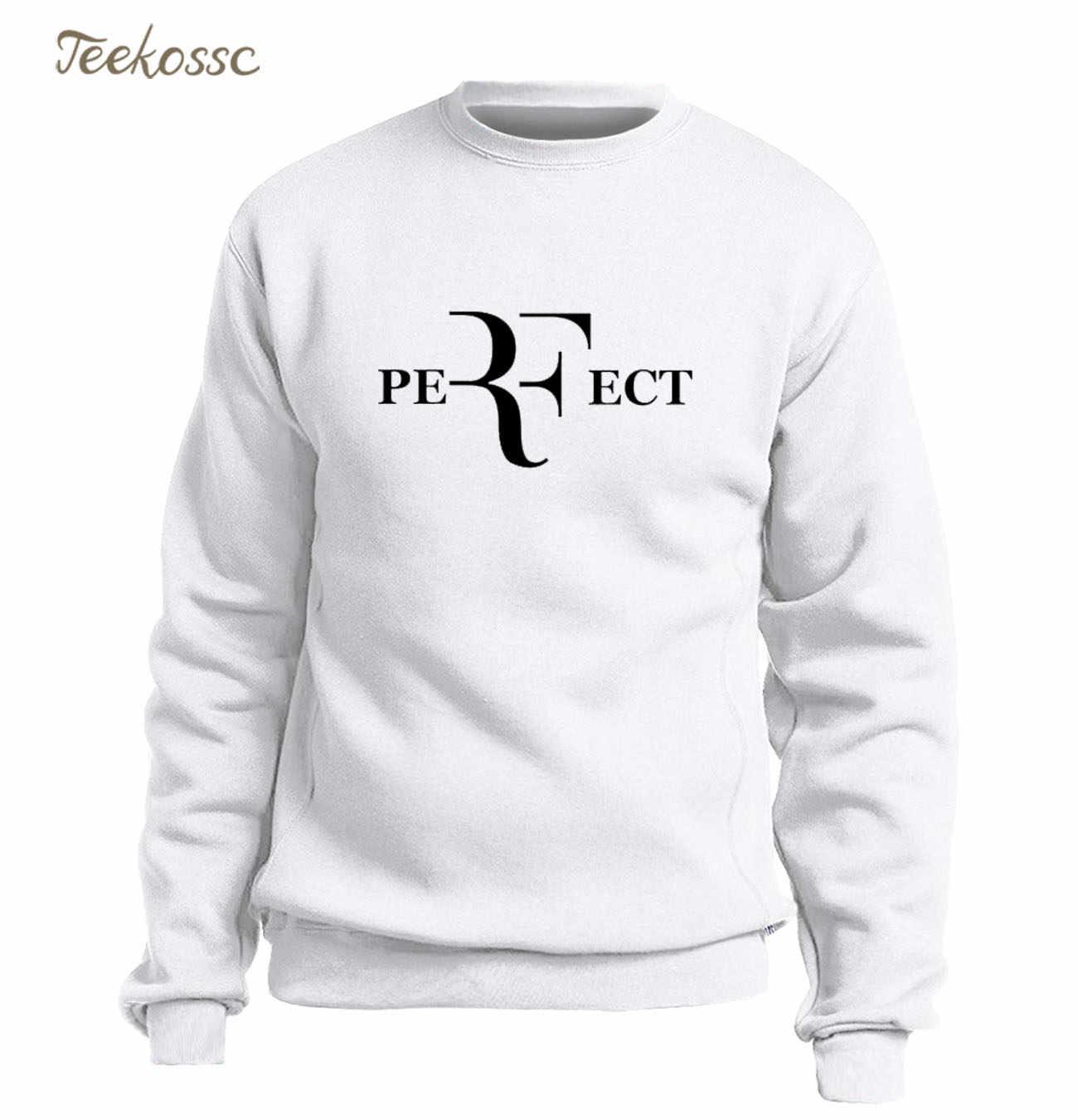 5383a68f ... Roger Federer Tennis Hoodie Men RF Perfect Letters Sweatshirt Balck  Gray Sweatshirts 2018 Winter Autumn Fleece ...