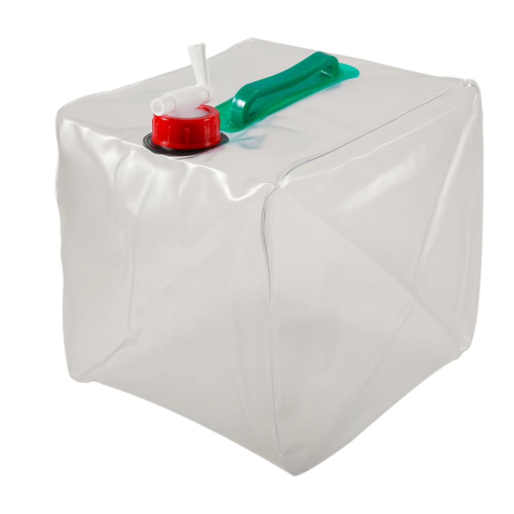 20L Portable Foldable Water Storage Bag Safe PVC Double Handles Super Large Capacity Water Container Transparent Bags