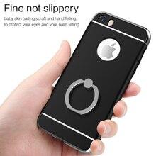 2016 Новый Роскошный мода Покрытие Кольцо Пряжки случай для Iphone 5/5S/5SE 4.0 дюйм(ов) 360 градусов полная защита для iphone 5/5s/5se случае