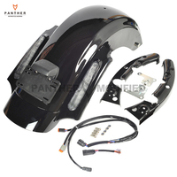 Black Motorcycle CVO Style Rear Fender System case for Harley Davidson Touring Electra Glide 2009 2013