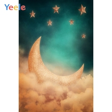 Yeele Baby Photocall Dream Gold Moon Star Room Decor Photography Backdrop Personalized Photographic Background For Photo Studio