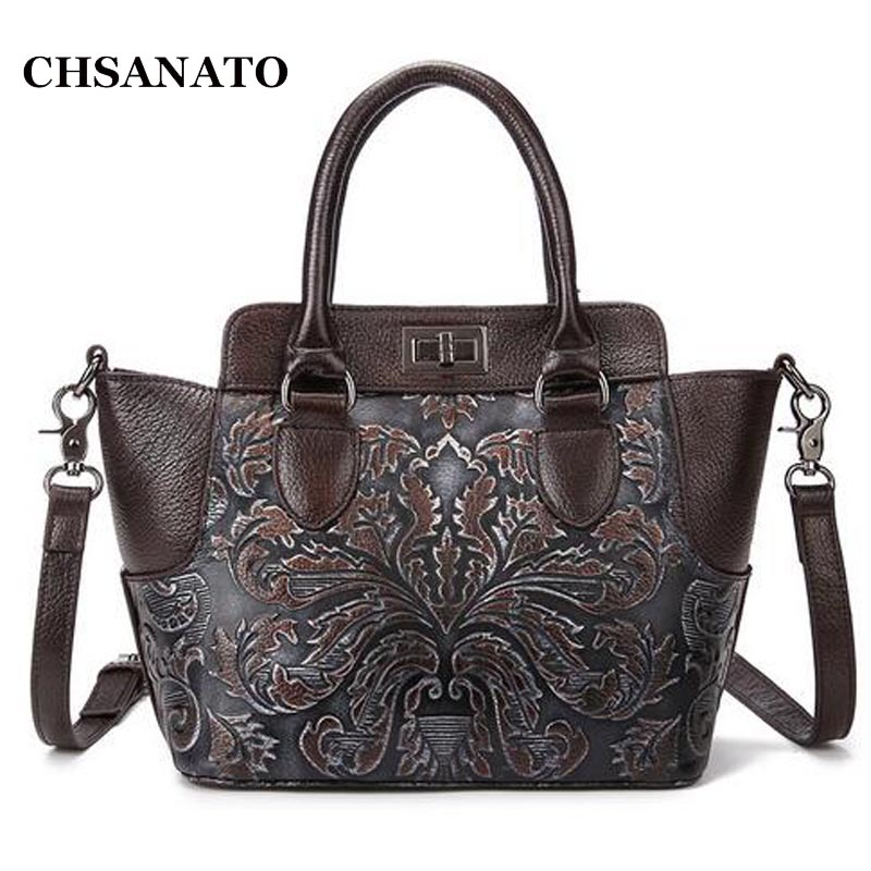 Famous Brand Ladies Handbags Genuine Leather Women Bag Floral Print Shoulder Bags 2018 Sac New Luxury Tote Bag радиоуправляемый инверторный квадрокоптер mjx x904 rtf 2 4g x904 mjx