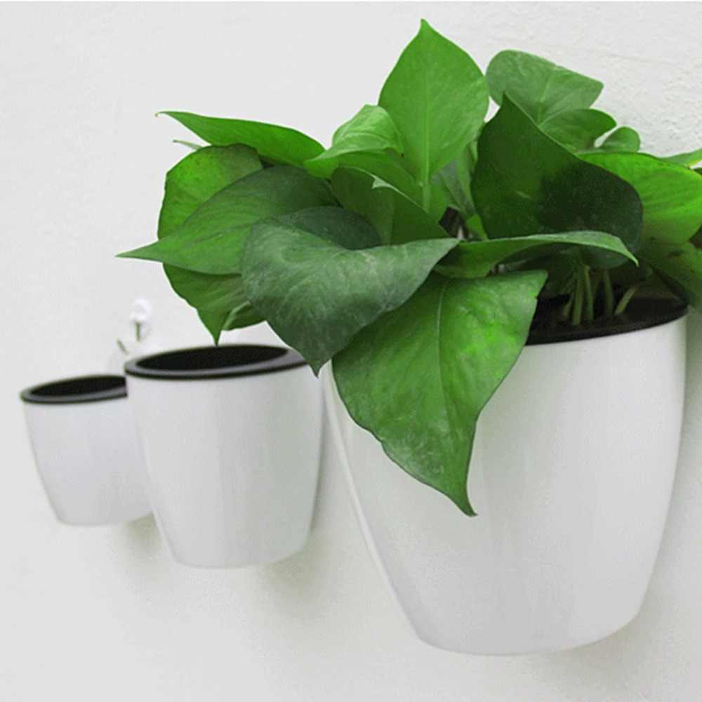 Modern Design Home Wall Hanging Design Flower Pot Round Shape Resin Hydroponics Chlorophytum Potted Flower Pots Minimalist style