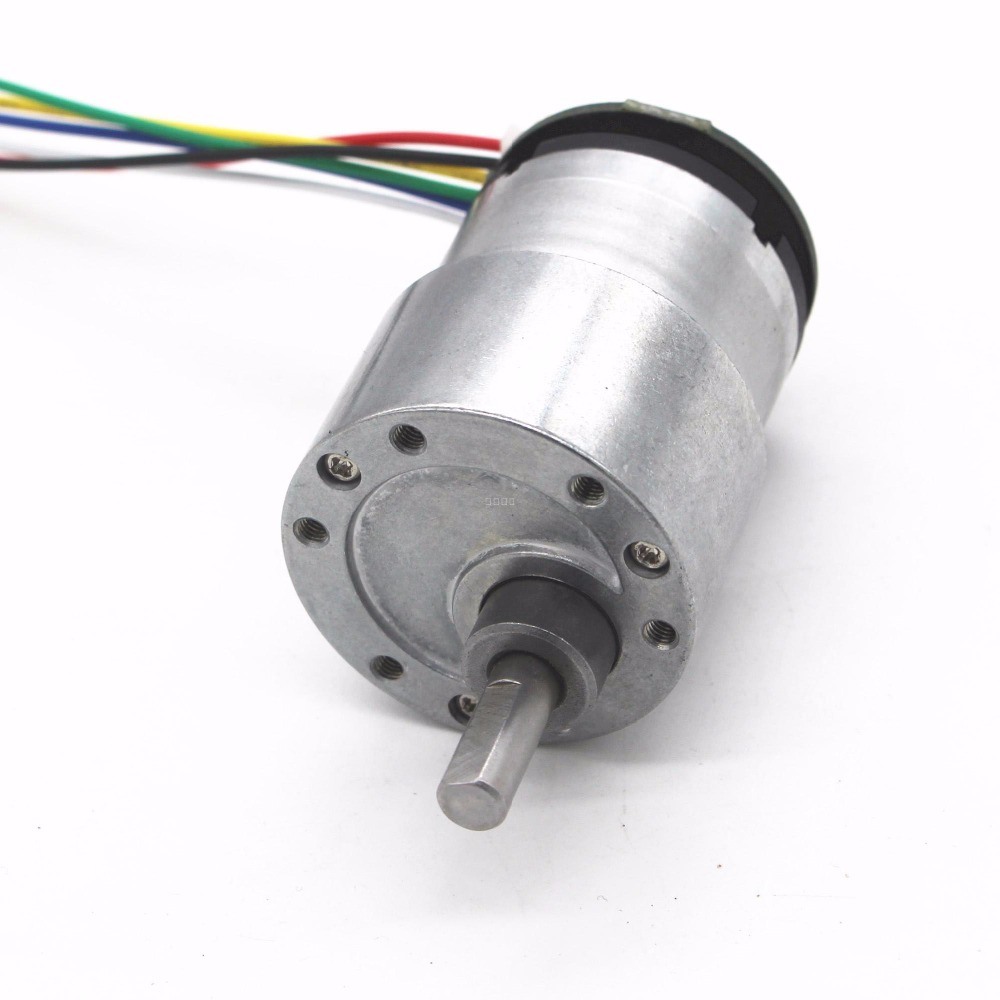 JGB37-520 Encoder Motor, Geared Smart Car DC Gear DIY Intelligent Device Motor