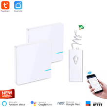 Get more info on the Google Home Mini Compatible WiFi Light Wireless Switch 2 Switch Control 1 Light Easy To Install Remote Control Ceiling Fan&Light