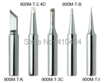 New 5X Soldering Iron Tips Set 900M-T Series For HAKKO 900M,907,933,852D+,852D Soldering Station