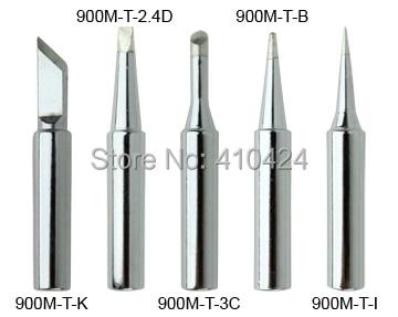 New 5X Soldering Iron Tips Set 900M T Series for HAKKO 900M,907,933,852D+,852D Soldering station