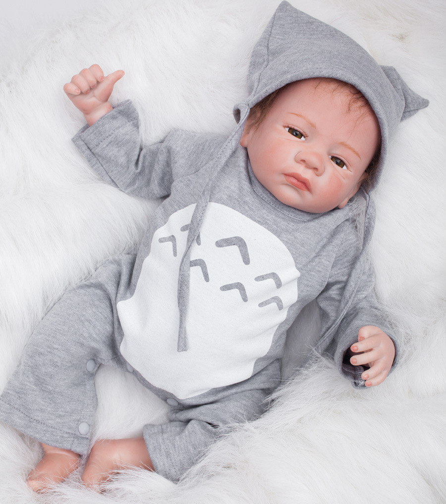 18inch Handmade 18Reborn Baby Doll Boy Realistic Infant FULL BODY SILICONE With A Pacifier fot Nursery train kindergarten18inch Handmade 18Reborn Baby Doll Boy Realistic Infant FULL BODY SILICONE With A Pacifier fot Nursery train kindergarten