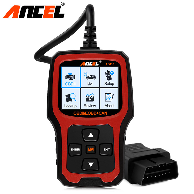 Original ANCEL Car Diagnostic Detector OBD 2 Automotive Scanner AD410 OBD2 Code Reader Scanner Batter ELM327 Diagnostic Tool launch original x431 car diagnostic tool easydiag obd2 bluetooth adapter automotive scanner code reader for ios android mdiag