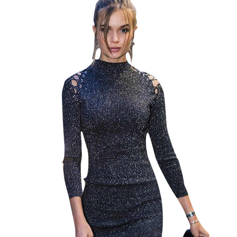 86720cee5326b Detail Feedback Questions about Dress Women Summer Fashion Sequin Glitter  Long Sleeve Party Night Club Bodycon Mini Dresses Elegant Glitter sexy ...