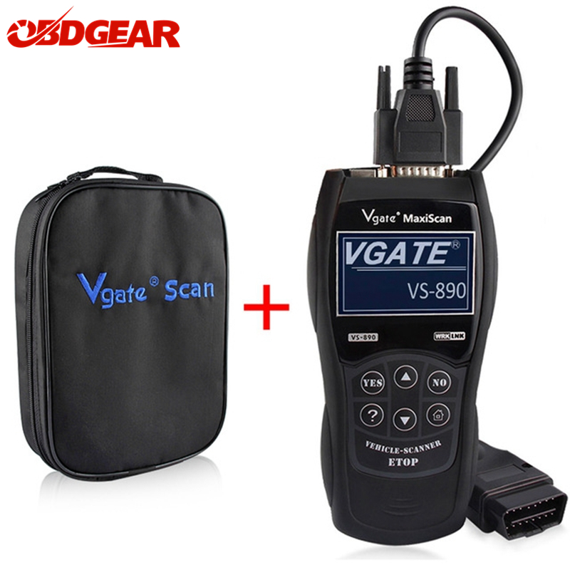 2018 New OBD2 Scanner Vgate Maxiscan VS890 OBD 2 Automotive Scanner Support Multi-Brands Car Diagnostic Tool Better than AD310