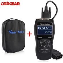 2021 nowy OBD2 skaner Vgate Maxiscan VS890 OBD 2 skaner samochodowy automatyczne narzędzie diagnostyczne odb2 skaner diagnostyczny samochodu czytnik kodów