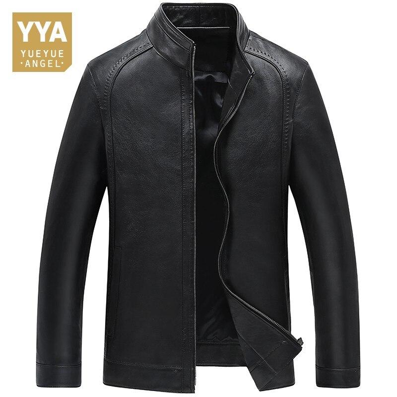 Chaude Manteau En Peau de Mouton Pour Hommes Jaqueta Masculina Automne Véritable Veste En Cuir Hommes Blouson Moto Homme Zipper Vintage Hommes Vestes