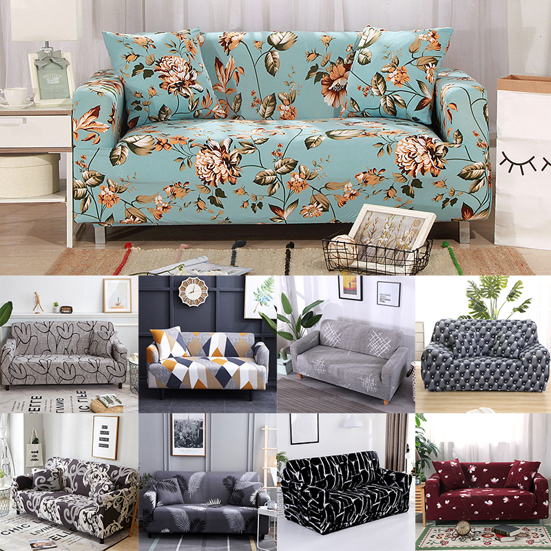 New Popular Elastic Sofa Cover For Living Room Furniture Armchair Cover Stretch Couch Cover Case Sofa Slipcover 1/2/3/4 Seater