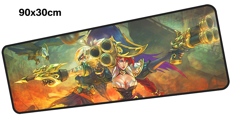 miss fortune mouse pad gamer 900x300mm notbook mouse mat large gaming mousepad HD print  ...