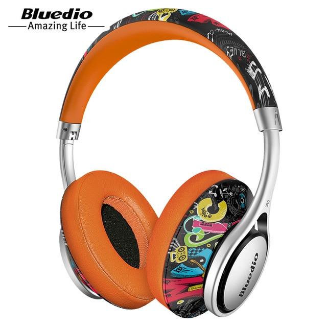 100% Orignal Bluedio A2 casque Bluetooth casque Subwoofer véritable stéréo Hi-Fi Sport casque de musique sans fil pour jeu vidéo