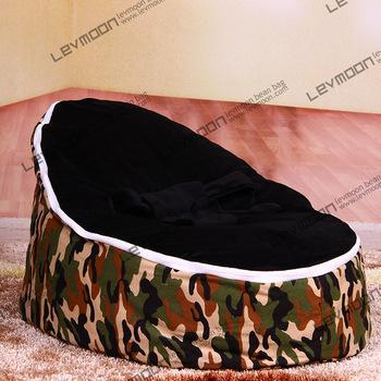 Tampa do saco de feijão bebê com 2 pcs preto up cobre sacos de feijão do bebê bebê cadeira do saco de feijão do bebê assento beanbag do saco de feijão cama FRETE GRÁTIS
