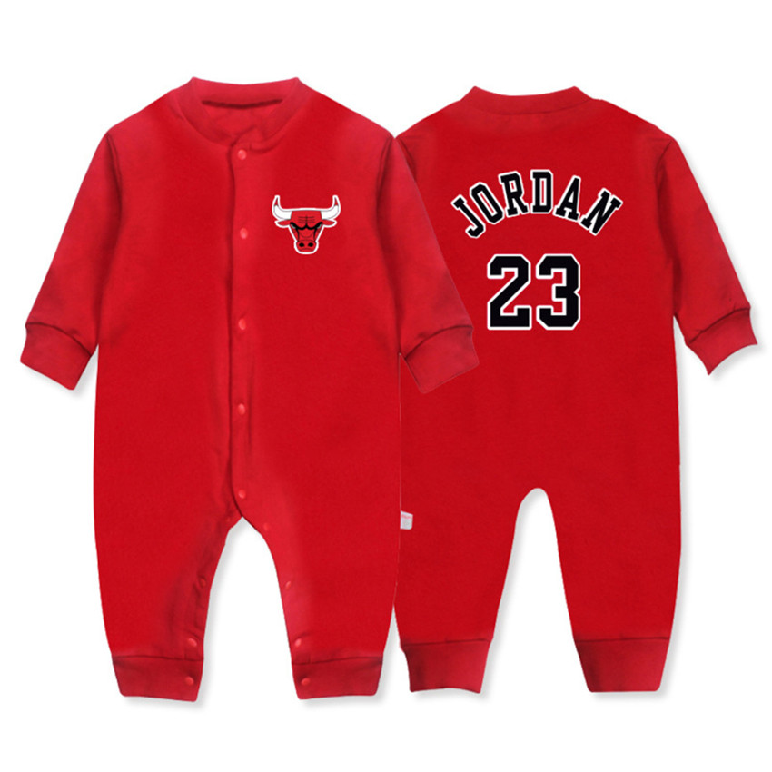 Newborn Baby Boy Girl   Romper   Infant Costume New Born Baby Sport Onesie Spring Autumn Cotton Basketball Jersey   Rompers   Clothes