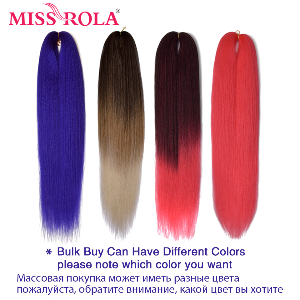 Image 3 - Miss Rola Kanekalon Hair Synthetic Jumbo Braid Yaki Straight Hair Extension Crochet Twist Braid 100 Grams 24 Inches Bulk Buy-in Jumbo Braids from Hair Extensions & Wigs