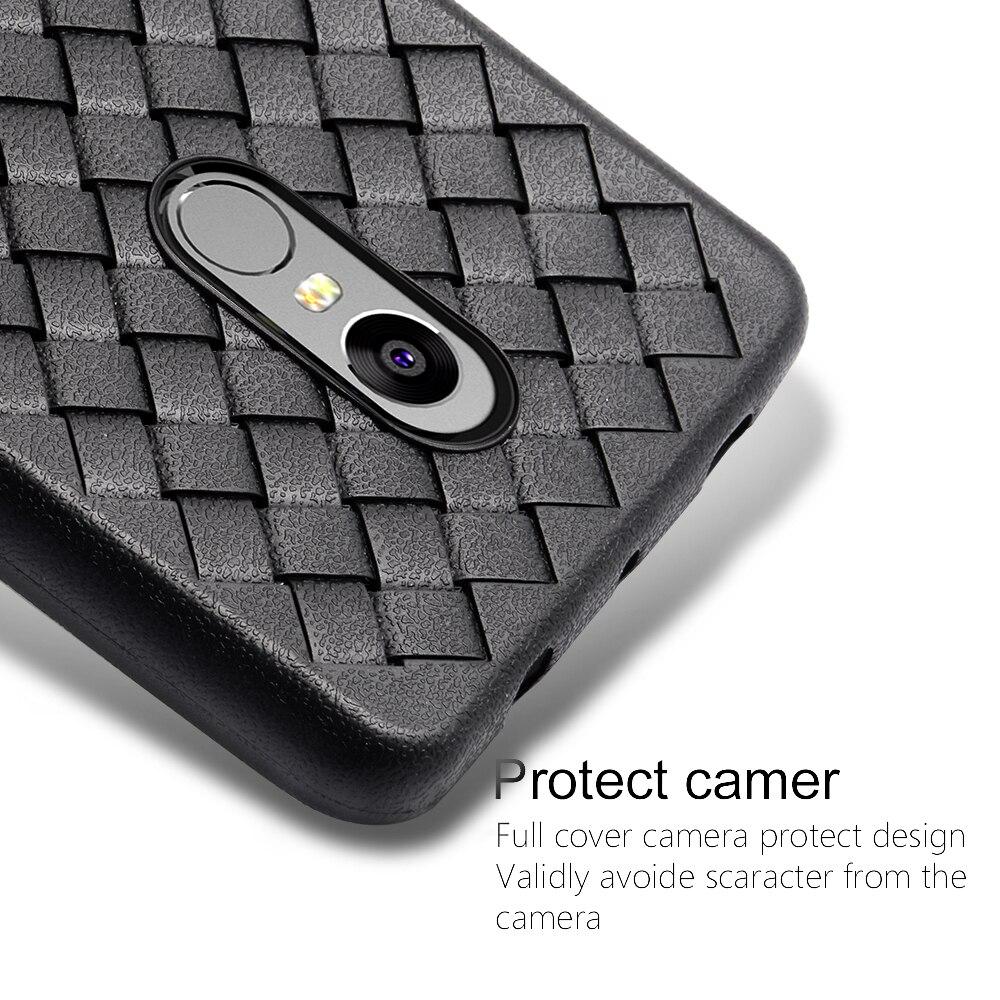 Proelio Ultra Thin Soft Silicone Weave Case For Xiaomi Redmi 4X 5X Note 4 5A Protector Phone Case For Redmi Note 4X Cover Coque  (3)