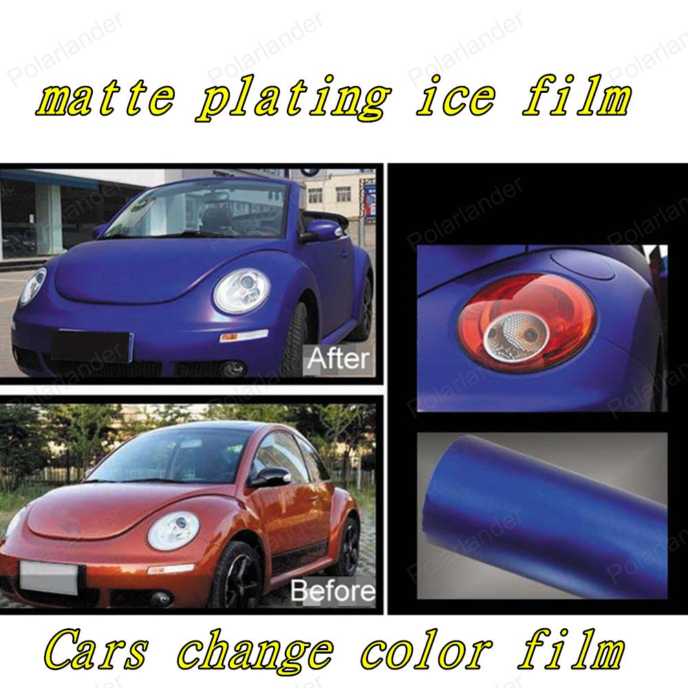 20*152 cm Car Carbon Fiber Vinyl Film Car Sticker Plating Matte Ice Film Vinyl Auto Wrapping Fiber Laptop Motocycle