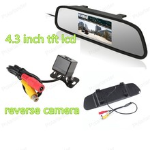 4.3 inch  LCD 2 VA input Car Monitor with 4 LED reverse night vision parking camera