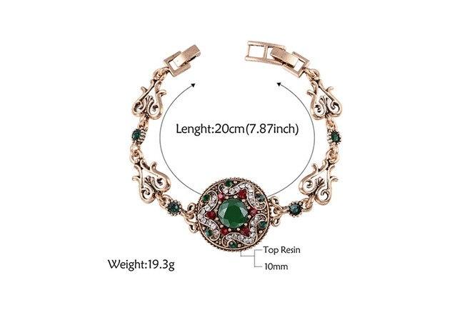 Роскошный топ качество Бохо круглый звезда кристалл браслет