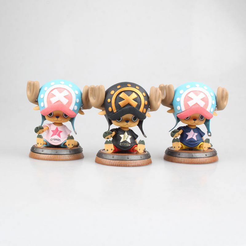 Clever 3 Inches One Piece Lift The Flag Of Tony Tony Chopper Hancock Pvc Anime Figure Collectible Toys Birthday Gift M7 Action & Toy Figures