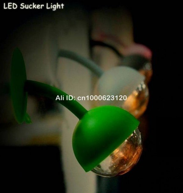30pcs Mini Sucker Light Ball-Shaped Night Lights Toys Keyboard Floodlight Table Lamp Free shipping EMS