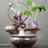 HOT Ceramic Flower Pot Bonsai Pot Chinese Terracotta Monk Purple Sand Glass Hydroponic Vase Potted Flower Pots Indoor Flowers