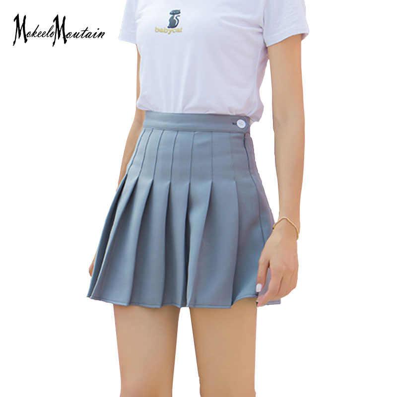 61d6e2b7da Japanese Kawaii Pleated Mini Skirt Women Summer Harajuku Ulzzang High Waist  Skirts Schoolgirl Kpop Lolita Skirts