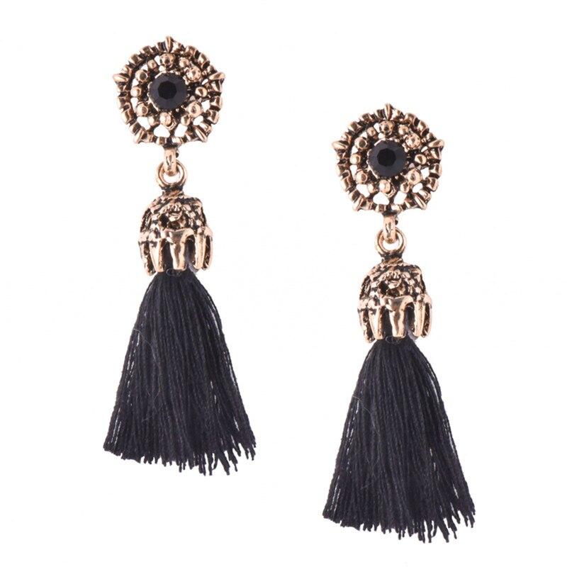 Design; In Bright Handmade Tassel Earrings 2018 Trendy Black Red Yellow Green Jewellery For Women Long Dangles Ear Broncos Silk Fringed Novel